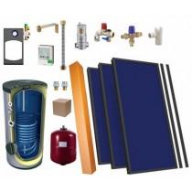 Solaire thermique kit 2 panneaux, ballon eau chaude 300L