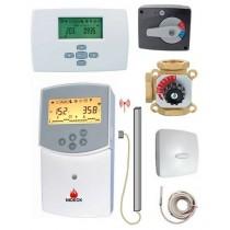 Kit de mélange vanne 3 voies 1''F régulateur Clima et thermostat d'ambiance radio
