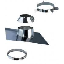 Chemin e inox double paroi isol e nideck chauffage - Reducteur cheminee 200 150 ...